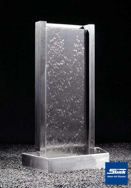 edelstahl wandbrunnen zimmerbrunnen indoor brunnen. Black Bedroom Furniture Sets. Home Design Ideas
