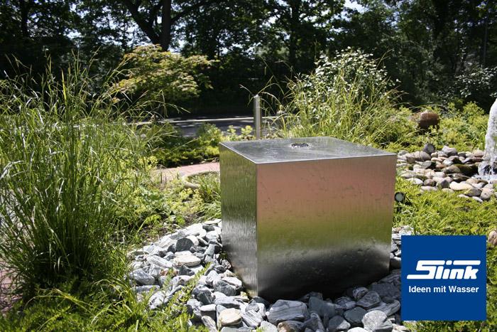 gartenbrunnen edelstahl kubus 50 kaufen