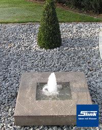 Moderne brunnen aus beton und gartenbrunnen in betonoptik - Gartenbrunnen modern ...