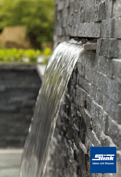 30 cm Edelstahl Wasserfall-Bauteil Victoria