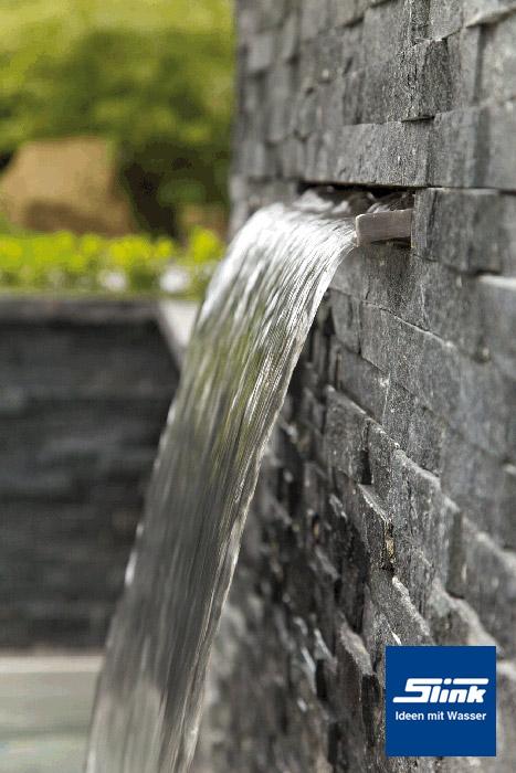 30 cm led edelstahl wasserfall bauteil victoria kaufen wasserfall wand - Wand wasserfall ...