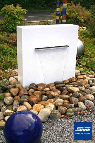 Aluminiumbrunnen gartenbrunnen viele farben tolles design for Brunnen modern wasserfall