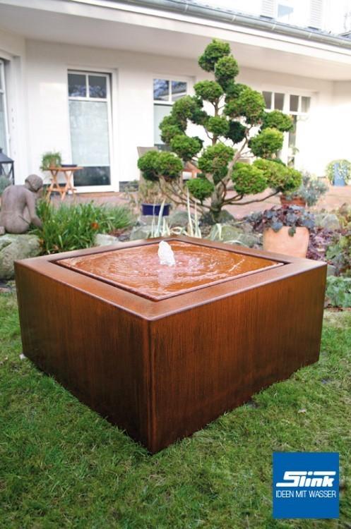 cortenstahl garten terrasse produkte, gartenbrunnen cortenstahl-kubus-tisch 80 online kaufen – cortenstahl, Design ideen