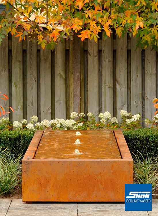 gartenbrunnen cortenstahl kubus tisch 3 300 online kaufen cortenstahl brunnen. Black Bedroom Furniture Sets. Home Design Ideas