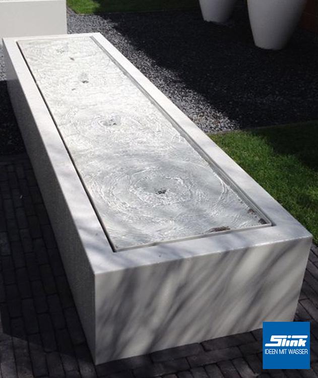 Gartenbrunnen Aluminum Kubus Tisch 4 400 Slink Gartenbrunnen