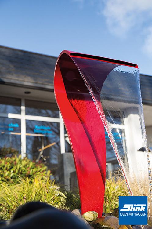 gartenbrunnen edelstahl wasserfall swing color. Black Bedroom Furniture Sets. Home Design Ideas