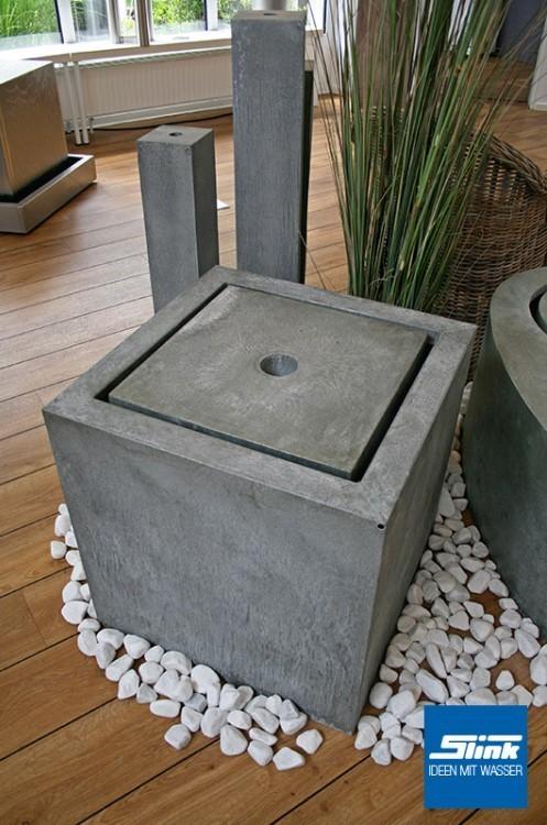 gartenbrunnen zink kubus tisch 60 x 60 x 60 cm kaufen zinkbrunnen. Black Bedroom Furniture Sets. Home Design Ideas