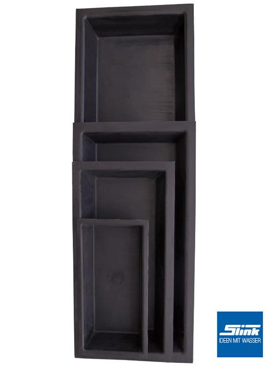 gfk wasserbecken fertigteich rechteckig 300 x 240 x 60 cm mit 3600 liter volumen. Black Bedroom Furniture Sets. Home Design Ideas