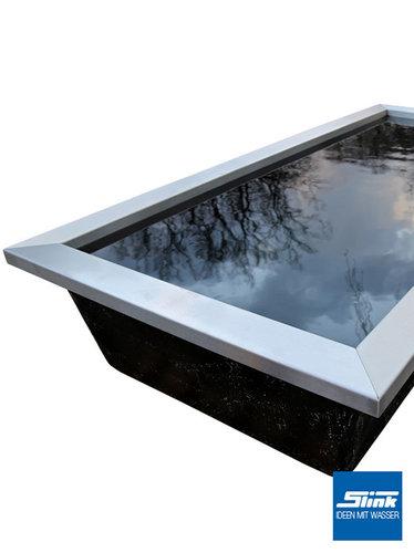 beckenrandabdeckung f r gfk teichbecken und wasserbecken gartenbrunnen slink. Black Bedroom Furniture Sets. Home Design Ideas