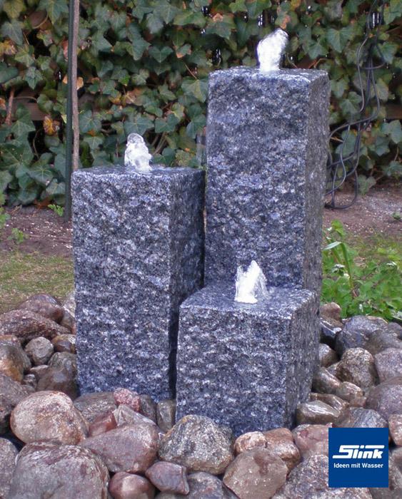 Gartenbrunnen Sylt Granitsäulen online kaufen