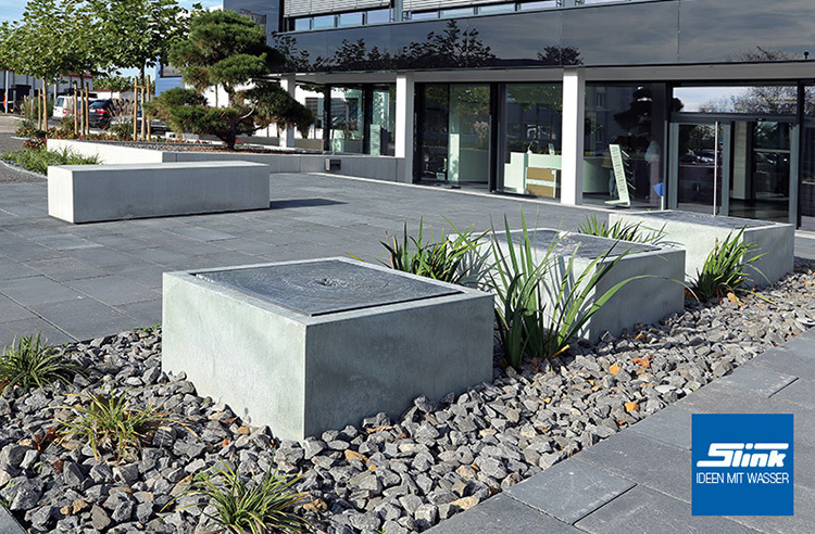 Gartenbrunnen zink kubus tisch 80 x 80 x 40 cm kaufen - Brunnen modern ...
