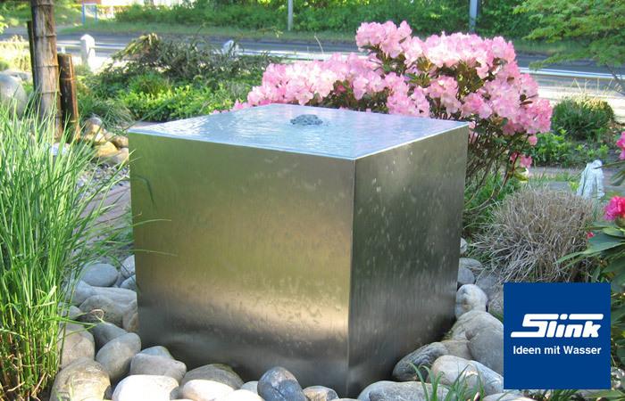 gartenbrunnen edelstahl kubus 50 kaufen, Garten und bauen