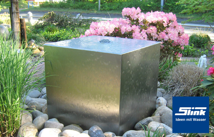 gartenbrunnen edelstahl kubus 50 kaufen,