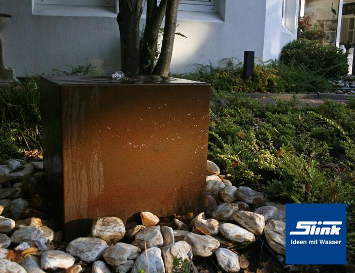 gartenbrunnen cortenstahl quader online kaufen cortenstahl brunnen. Black Bedroom Furniture Sets. Home Design Ideas