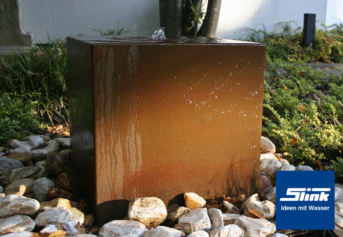 gartenbrunnen cortenstahl quader online kaufen. Black Bedroom Furniture Sets. Home Design Ideas