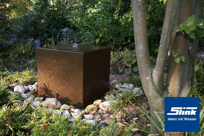 gartenbrunnen cortenstahl-quader online kaufen – cortenstahl-brunnen, Gartenarbeit ideen