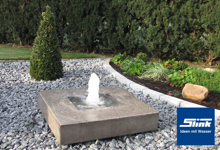 Gartenbrunnen elemento mit feuerstelle online kaufen for Feuerstelle garten mit pflanzkübel eckig anthrazit