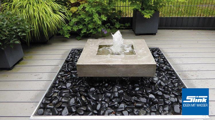 gartenbrunnen elemento mit feuerstelle online kaufen. Black Bedroom Furniture Sets. Home Design Ideas