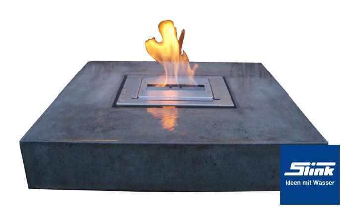 Gartenbrunnen elemento mit feuerstelle online kaufen for Kleingarten modern