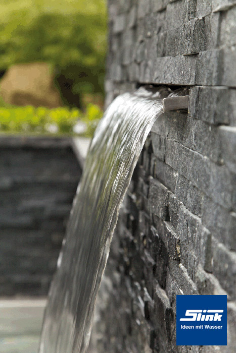 60 cm led edelstahl wasserfall bauteil victoria kaufen - Wasserfall wand ...