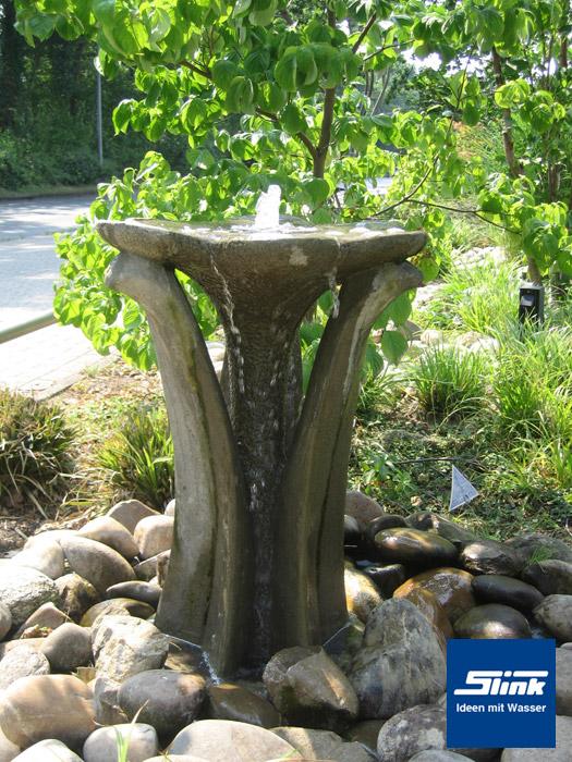 gartenbrunnen flower fountain steinbrunnen online kaufen. Black Bedroom Furniture Sets. Home Design Ideas