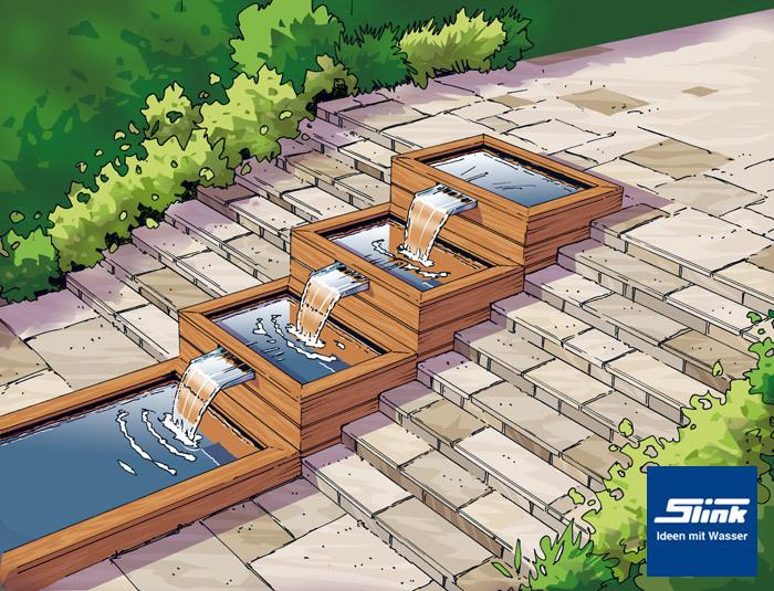 edelstahl Überlauf-element fabricius 30 – wasserfall am eigenen teich, Garten und Bauen