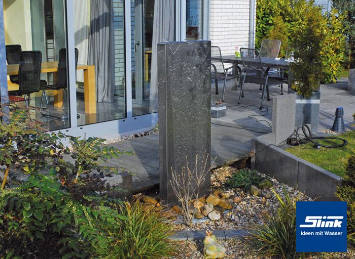 edelstahlbrunnen edel stele imposanter und gartenbrunnen aus hochwertigem edelstahl. Black Bedroom Furniture Sets. Home Design Ideas