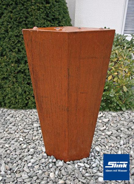 gartenbrunnen cortenstahl ellipse karo cortenbrunnen in rautenform. Black Bedroom Furniture Sets. Home Design Ideas