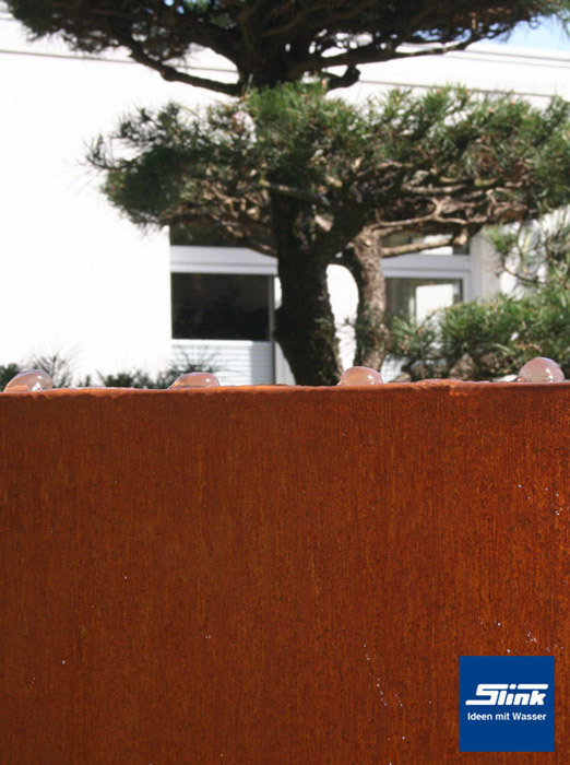 gartenbrunnen cortenstahl-stele – wasserspiel und sichtschutz in einem, Garten und bauen