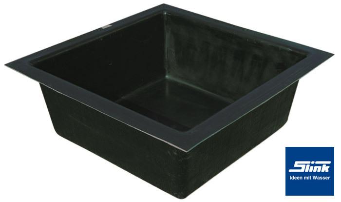 Turbo GFK-Wasserbecken Fertigteich quadratisch 150 x 150 x 45 cm mit 650 CQ37