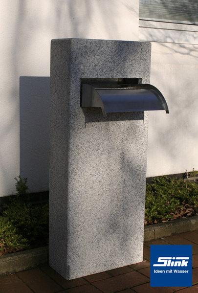 Garten-wasserfall Granitsäule ? Ein Wasserobjekt Als Wasserfall-säule Wasserfalle Fur Den Garten