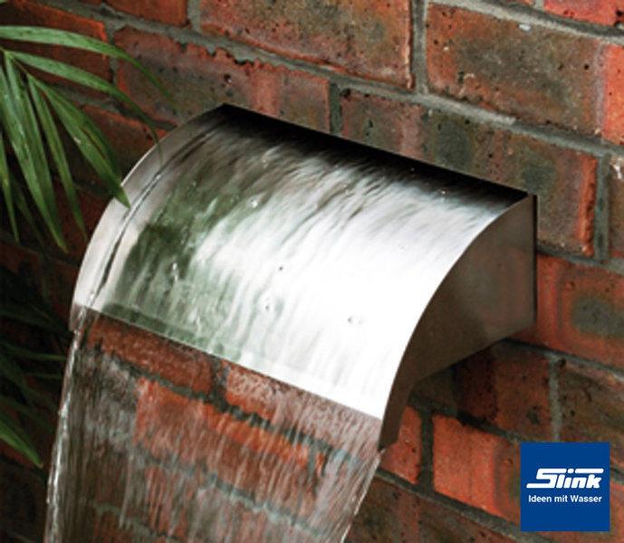 edelstahl wasserfall-bauelement whitewater 60 led – zum einbauen, Garten ideen