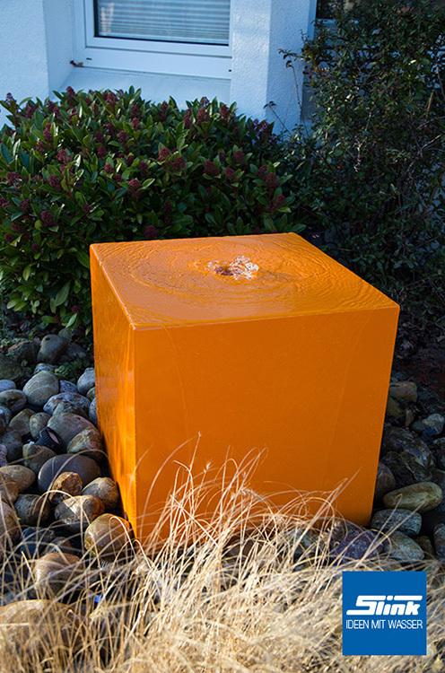 gartenbrunnen aluminum quader 60 - slink | gartenbrunnen, Gartenarbeit ideen