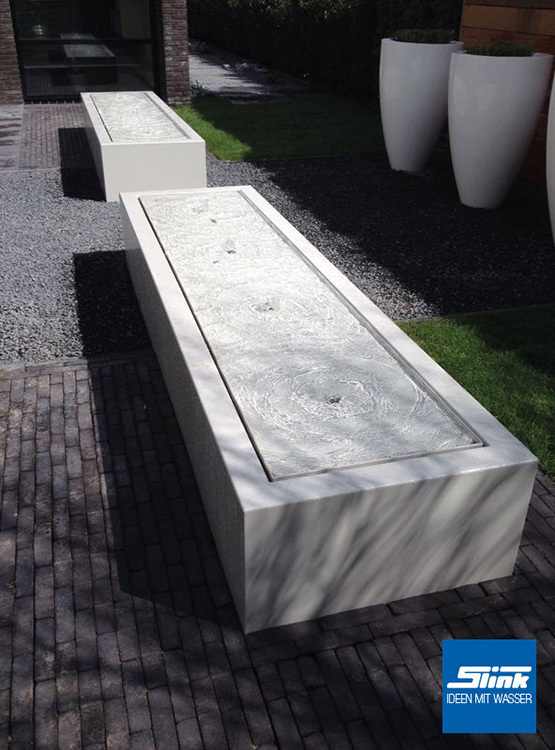 gartenbrunnen aluminum kubus tisch 6 600 slink gartenbrunnen wasserbecken teichtechnik. Black Bedroom Furniture Sets. Home Design Ideas