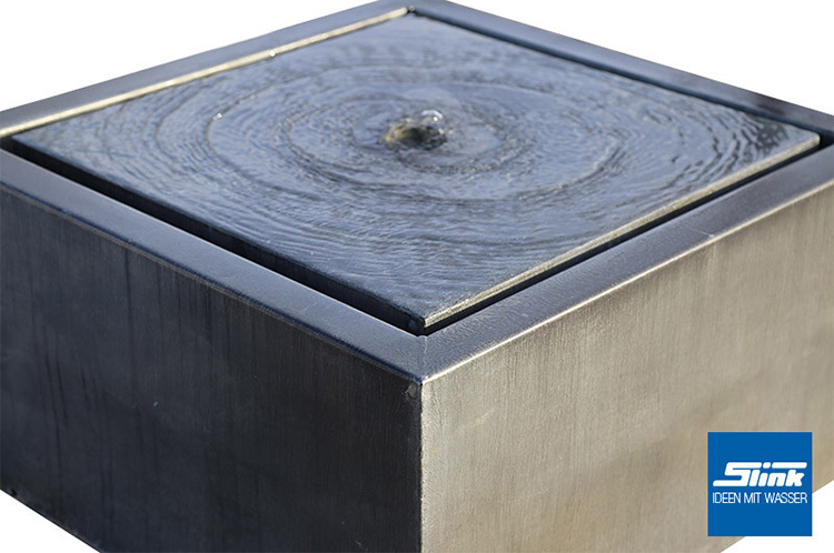 brunnen modern garten rechteckig. Black Bedroom Furniture Sets. Home Design Ideas