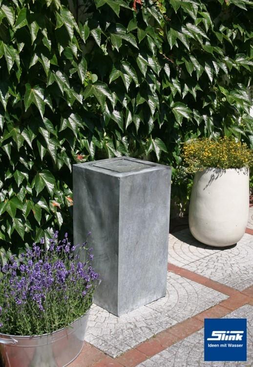 gartenbrunnen zinkart kubus tisch hoch 40 x 40 x 80 cm kaufen zinkbrunnen. Black Bedroom Furniture Sets. Home Design Ideas