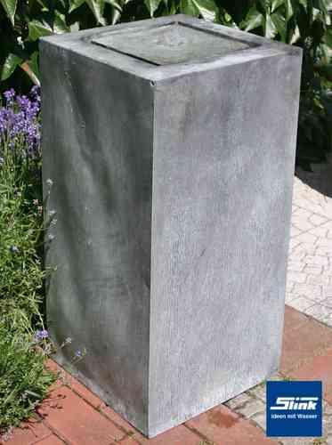zinkbrunnen kaufen gartenbrunnen aus dem besonderen und modernen material zink. Black Bedroom Furniture Sets. Home Design Ideas