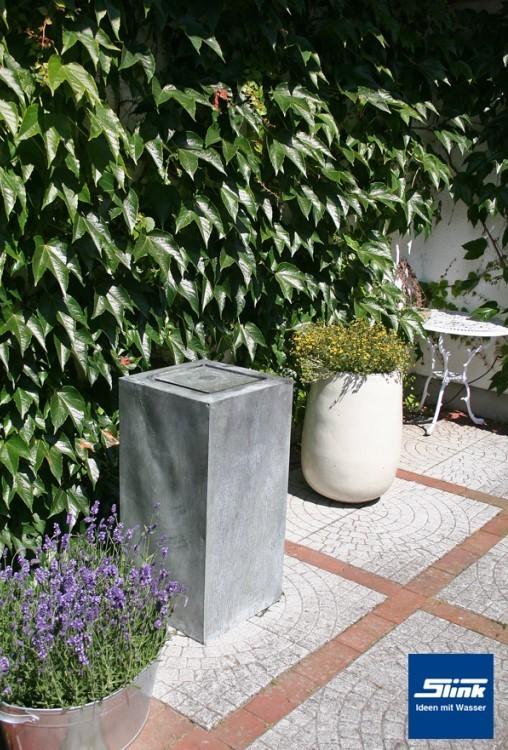 gartenbrunnen zinkart kubus tisch hoch 45 x 45 x 90 cm kaufen zinkbrunnen. Black Bedroom Furniture Sets. Home Design Ideas