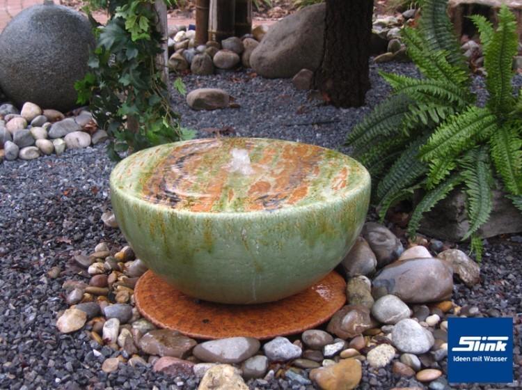 Gartenbrunnen keramik halbkugel online shop kugelbrunnen farbig - Gartenbrunnen keramik ...
