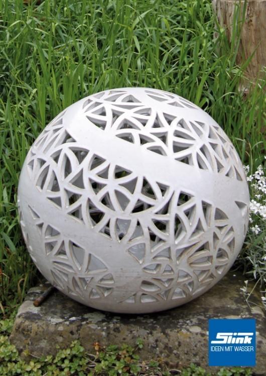 Keramik lichtkugel 35 cm online shop kugelbrunnen farbig - Gartenbrunnen keramik ...