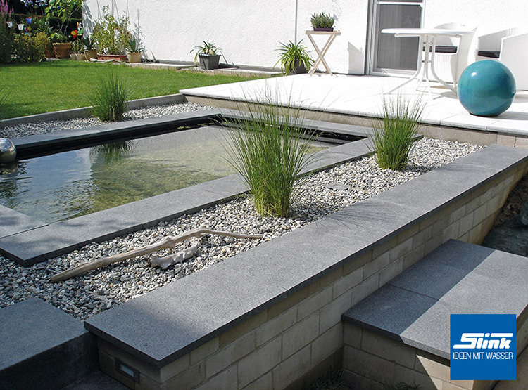 wasserbecken fertigteich rechteckig 340 x 215 x 90 cm, 4500 liter, Gartengestaltung