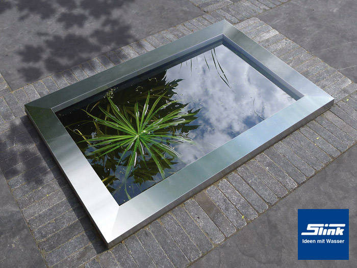 gfk-wasserbecken inklusive moderner edelstahlumrandung 120 x 80 x, Gartenarbeit ideen