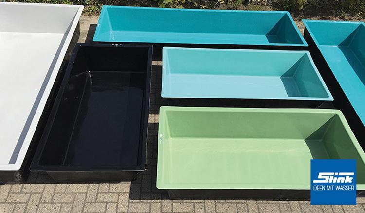 gfk-wasserbecken fertigteich rechteckig 360 x 120 x 100 cm mit, Gartengestaltung