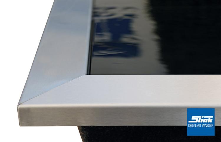 edelstahl-beckenrandabdeckung für gfk-becken 306 x 156 x 15 cm, Garten und Bauen