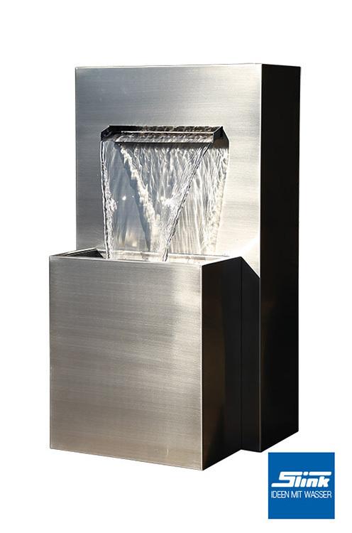 garten und terrassenbrunnen edelstahl wasserfall muro gartenbrunnen fachhandel. Black Bedroom Furniture Sets. Home Design Ideas