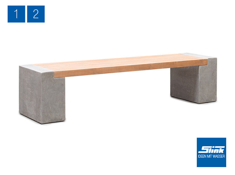 Gartenbank modern beton  Modulare Gartenbank in Betonoptik online kaufen Designerbank Beton