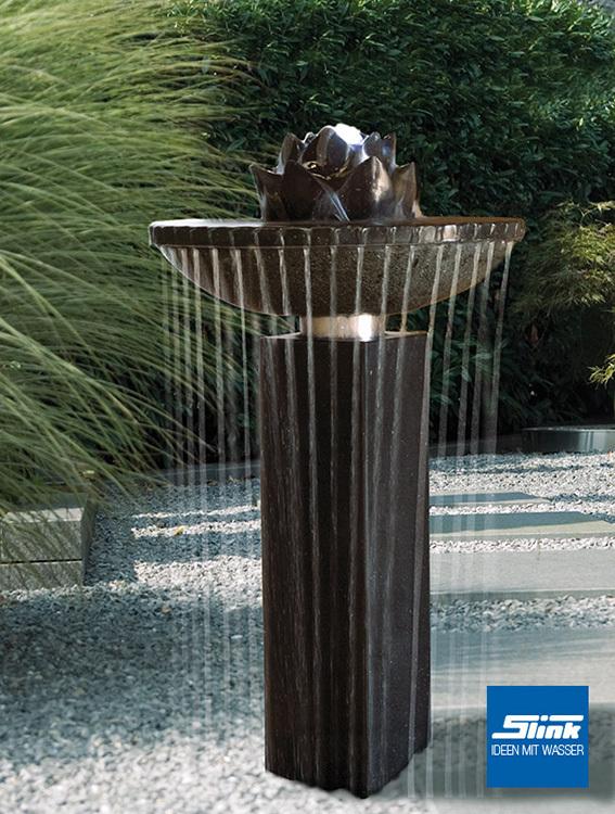 Gartenbrunnen Nero – ein wunderschöner Springbrunnen aus Granit