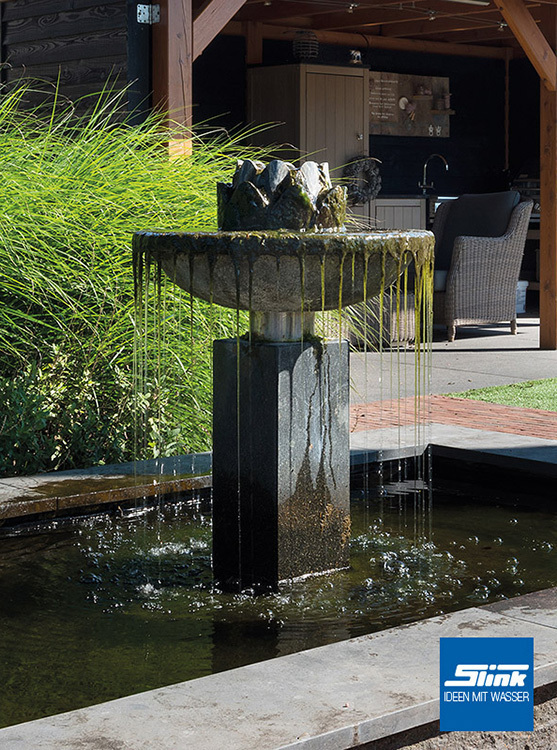 gartenbrunnen nero ein wundersch ner springbrunnen aus granit. Black Bedroom Furniture Sets. Home Design Ideas