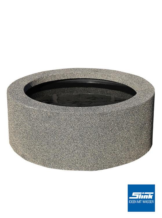 beckenumrandung granit 66 90 und 120 miniteich hochteich. Black Bedroom Furniture Sets. Home Design Ideas